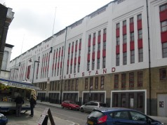 Arsenals gamla stadium Highbury, nu ett lägenhetskomplex.