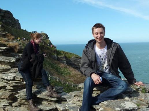 Något var roligt vid Tintagel Castle